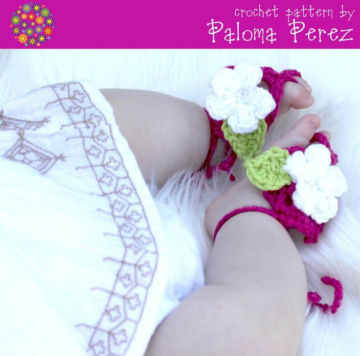 Barefoot Baby Sandals Crochet Pattern. $2.99, via Etsy. | BArefoot ...