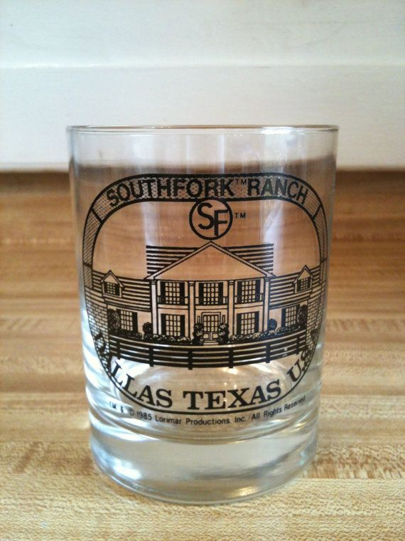 1985 Southfork Ranch Bar Glass