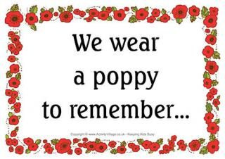 Remember Poppy Poster - Framed