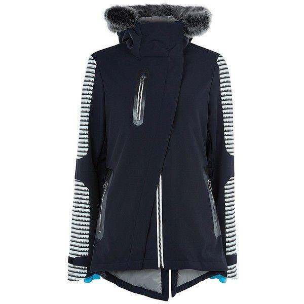 Sweaty Betty Method Softshell Ski Jacket ($425) ❤ liked on Polyvore featuring activewear, activewear jackets, blackskitransitionprint, sweaty betty and tall activewear