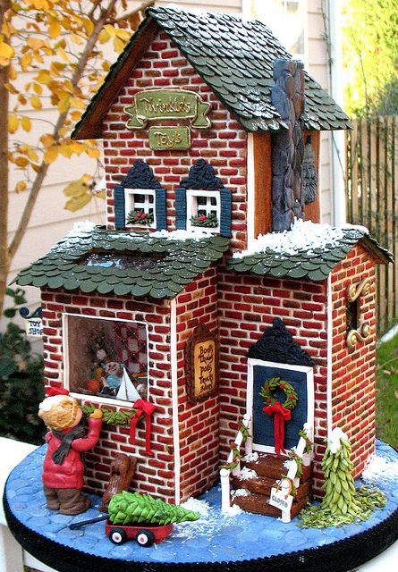 Gingerbread Brick House Store | #christmas #gingerbreadhouse #xmas