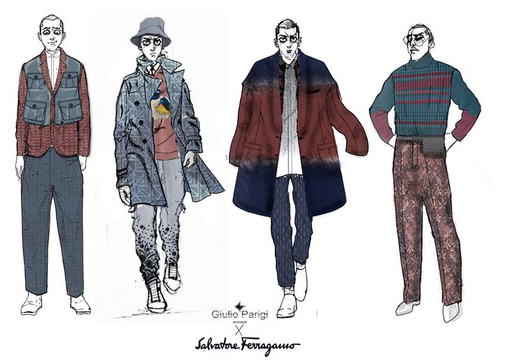 #sketching #outfits #giulioparigidesign #style #proposal #ferragamo