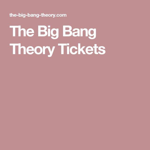 The Big Bang Theory Tickets