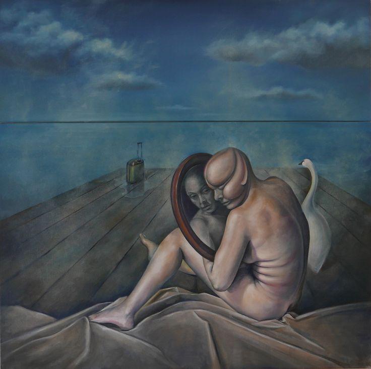 Carry on Oil on canvas 91cm x 91cm  #elias_kolivas #oilpainting #art