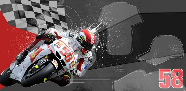 A new banner of our Myth, Marco Simoncelli   http://www.gp-racingapparel.com/