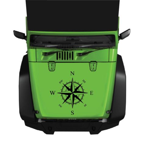 Compass Hood & Body Decal | Jeep | Truck | Universal Custom Car Decals Car Stickers