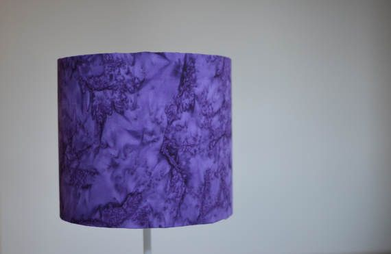 Purple lampshade violet home decor purple by ShadowbrightLamps