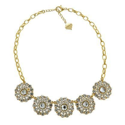 Spring is in full bloom with this gorgeous flower inspired crystal statement necklace. A sophisticated, cool necklace must have.