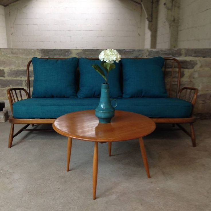 Vintage Ercol Jubilee Sofa In Teal