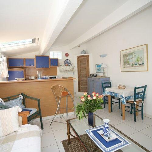 Maison Bleue Mandelieu Villa Rental Pool Living Kitchen