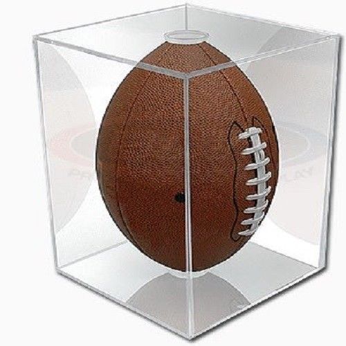 NFL - NCAA BallQube Football Holder Sports Memorabilia Display Case #BallQube