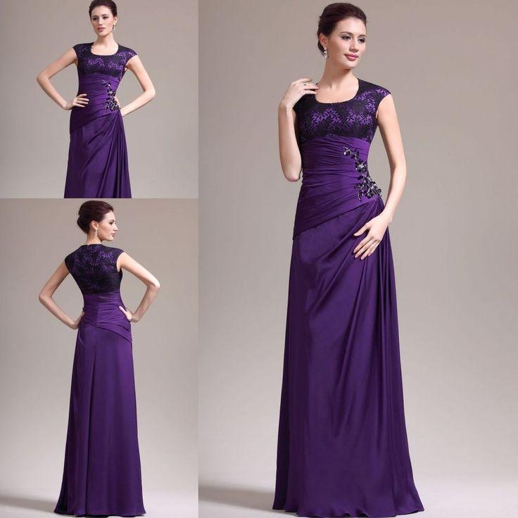 Glamour Lila Abendkleider Ballkleider Festkleid Brautmutter