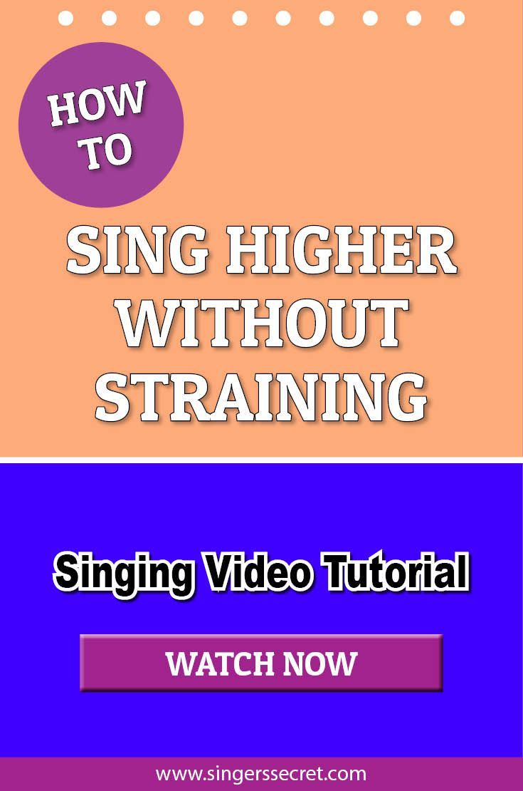 How To Sing Higher Without Straining #singing #music #lesson