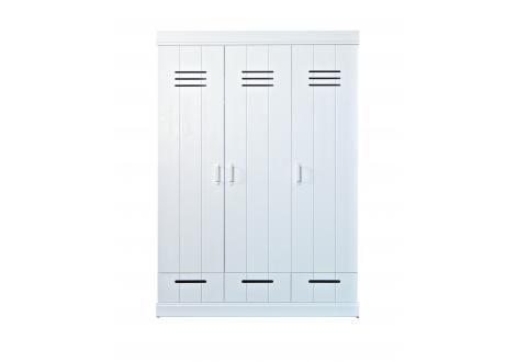 WOOOD 3-deurs kast lock 195 x 140 x 56 cm normale prijs 389,-