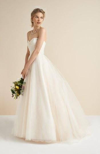 A stunning tulle and lace gown for a garden wedding.