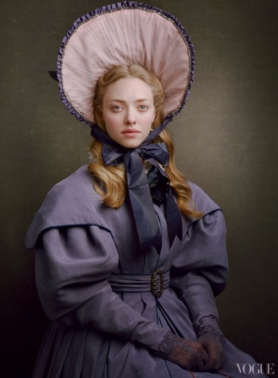 """Les Misérables"" Amanda Seyfried by Annie Leibovitz for Vogue"