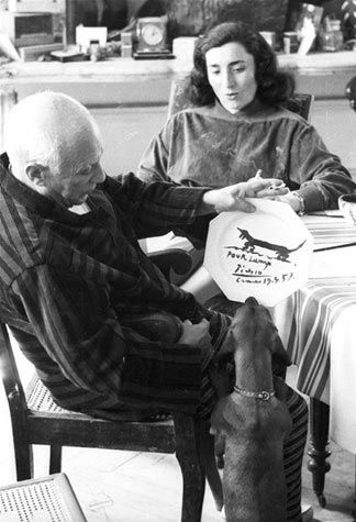 I Love this picture! Picasso and his dachshund Lump!