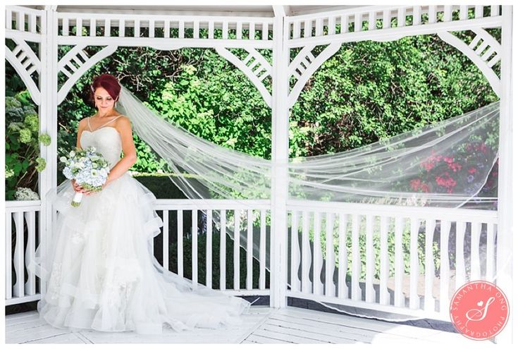 Vera Wang Bridal Dress with Ruffles and Cathedral Veil   Ajax Deer Creek Golf Course Wedding Photos: Scarlet and Stennette   © 2015 Samantha Ong Photography samanthaongphoto.com   #samanthaongphoto #deercreekweddings #ajaxweddings #deercreek