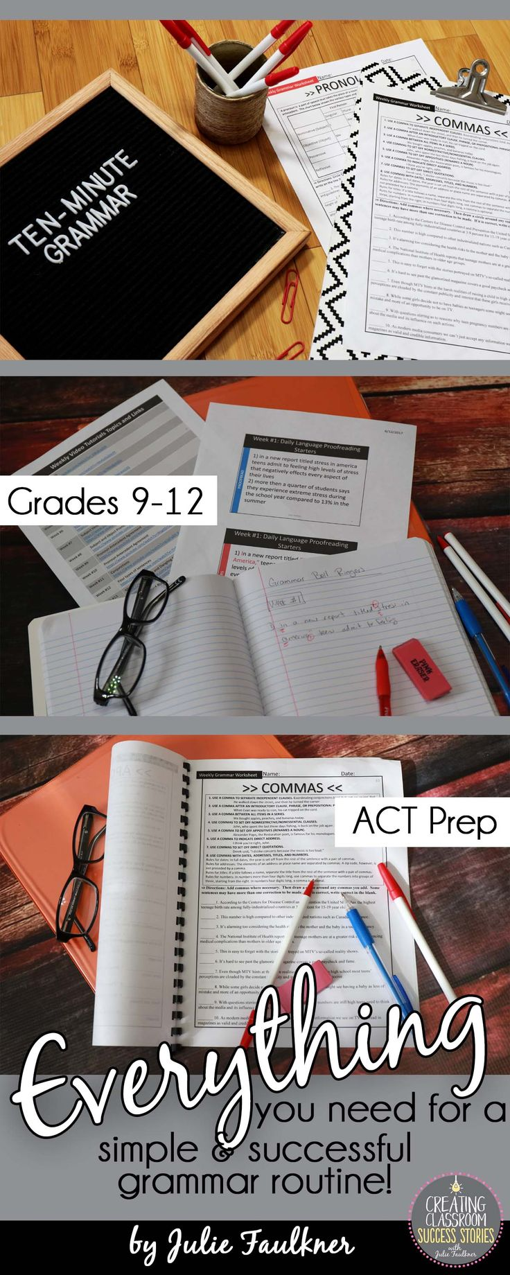 grammar routine, grammar practice, grammar program, high school grammar ACT prep