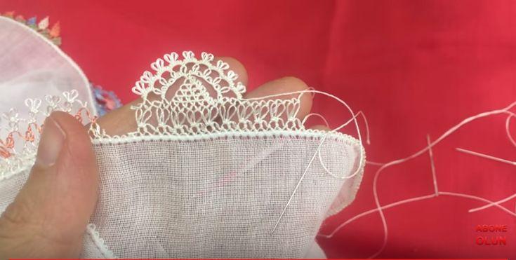 Başörtü ve havlu kenarına yapılabilecek güzel bir model /needle lace