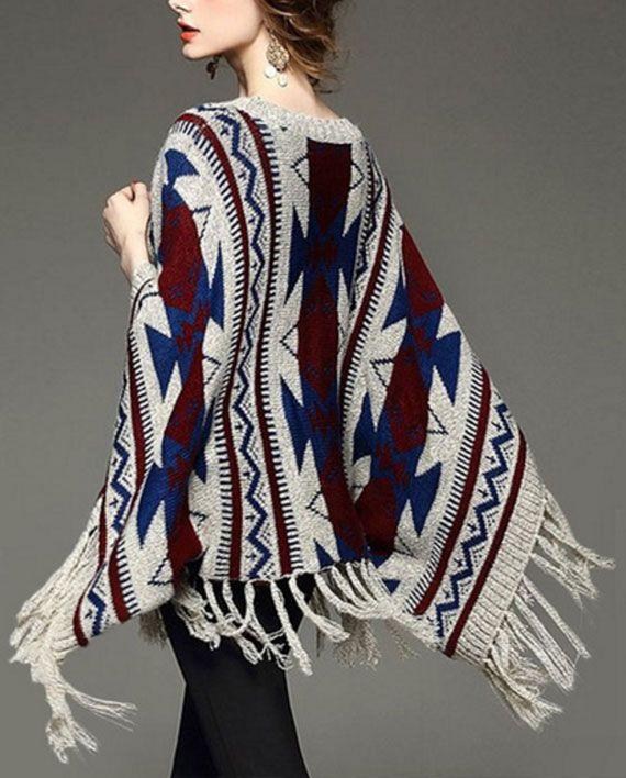 Super soft tribal poncho