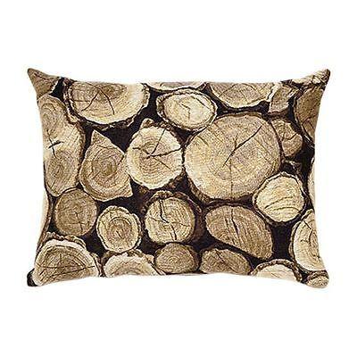 NEW Adorabella Logs Rectangular Cushion