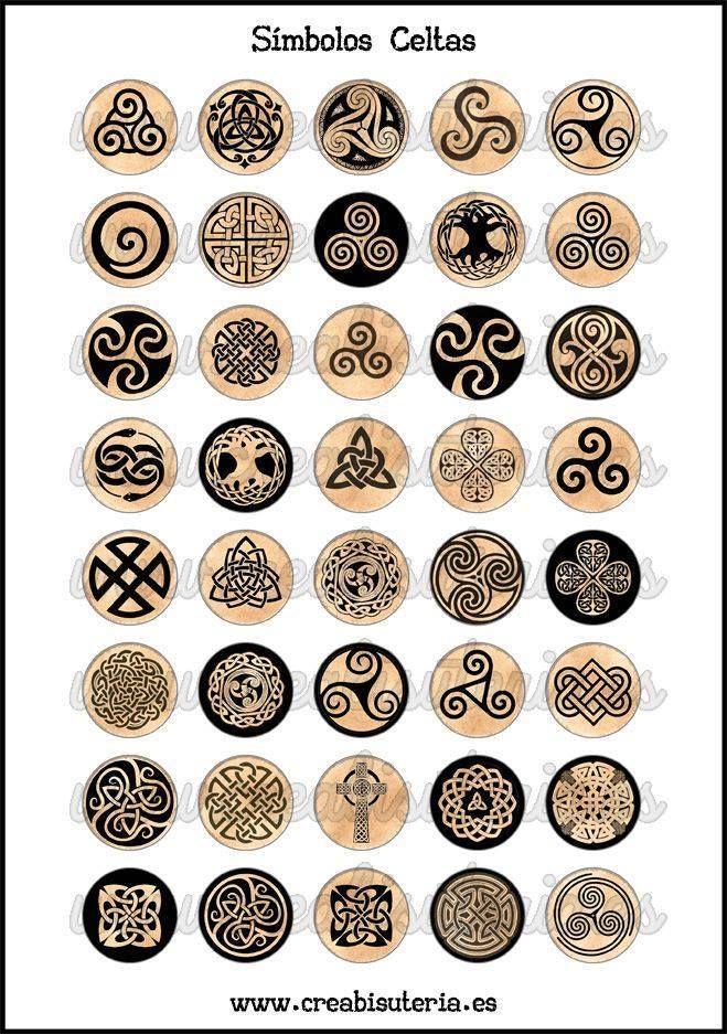 Todos los simbolos celtas.