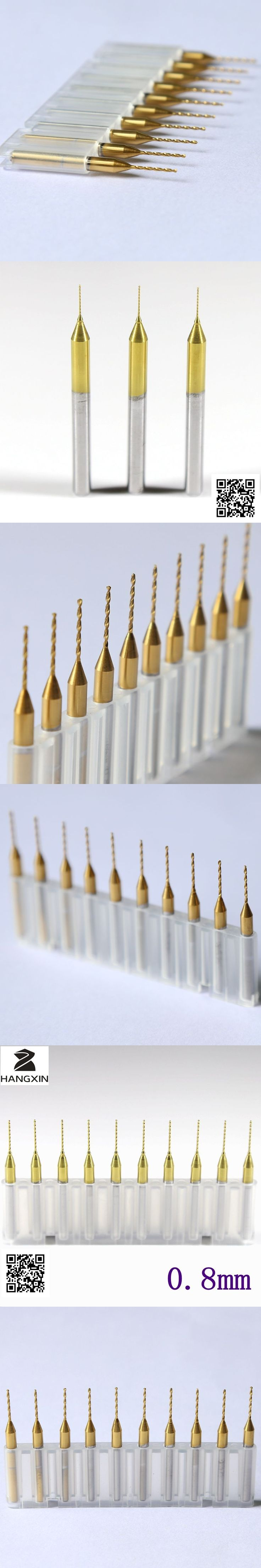 Titanium coated PCB drill, 3.175mm * 0.8mm Drill tool, 10PCS Printed circuit board Mini engraved metal, CNC router, Woodworking
