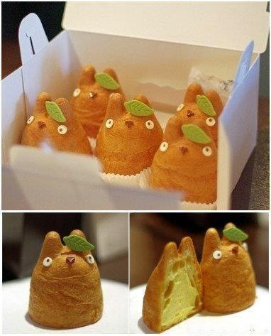 Totoro cream puffs, studio ghibli food