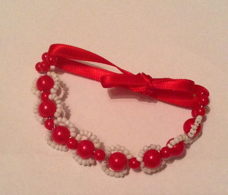 Cherry Beaded Bracelet by Dresstress on Etsy https://www.etsy.com/listing/220520513/cherry-beaded-bracelet