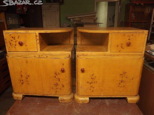 Staré noční stolky 58x51. - obrázek číslo 1
