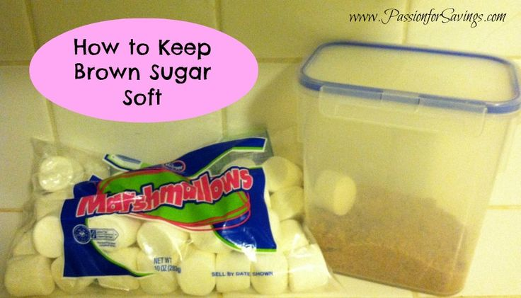 How to Keep Brown Sugar Soft! #kitchentips