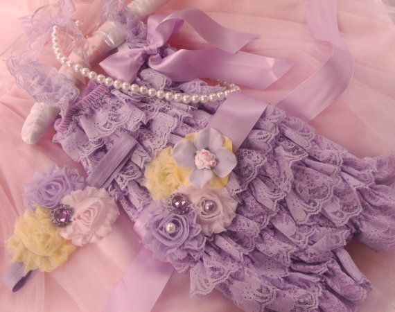 4 pcs Lavender Lace Petti Romper, Headband,petti rompers, baby girls petti Rompers, Photography props, Baby petti Rompers,Ready to Ship on Etsy, $34.99