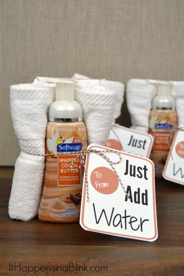 Just add water soap and towel gift idea foamsensations Gifts to show appreciation to friend