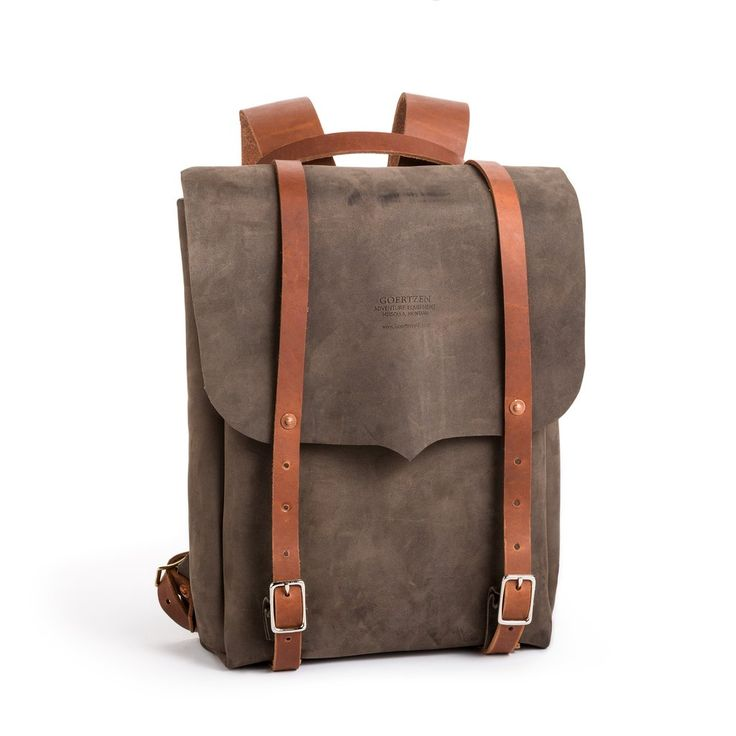 You've never seen a backpack look sosexy. This handmade leather backpack brings a grown up sophistication to a classic style, and you reap all the benefits: tw