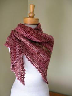 Crocheted shawl - free pattern