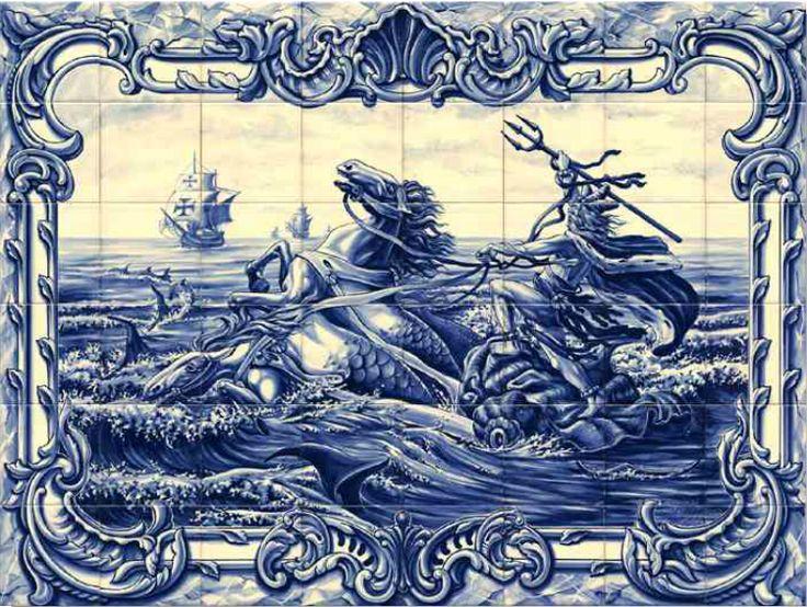#azulejos #bateau réf: cerb_265_7_1 #mer #carrelage #tile #boat #sea #decoration #bleu #blue