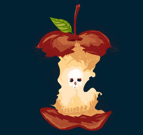 Bad Apple T-Shirt $11 Snow White tee at TeeFury today only!