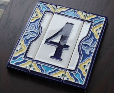 Наборные керамические номера • Керамические номера ручной работы