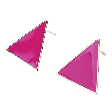 Verbluffende kleurrijke snoep-gekleurde gekleurde geometrische driehoek Oorbellen – EUR € 2.87