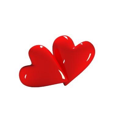 Red Hearts Acrylic Cutout  $17.15