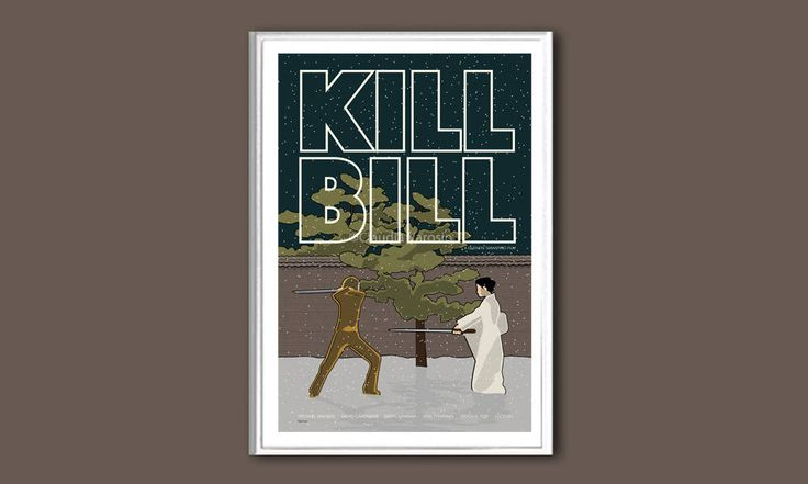 Kill Bill movie poster print in various sizes by ClaudiaVarosio on Etsy https://www.etsy.com/listing/517861532/kill-bill-movie-poster-print-in-various