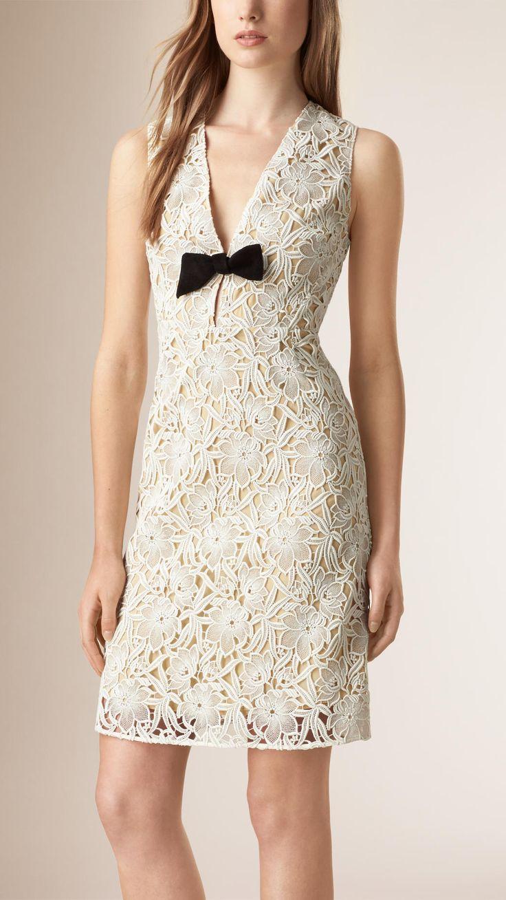 Cotton Lace Macramé Shift Dress | Burberry