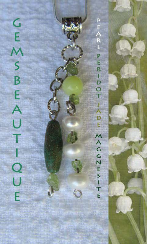 #Gemstone #Jewelry  #Persephone #Pendant #Pearls #Peridot #Pendant