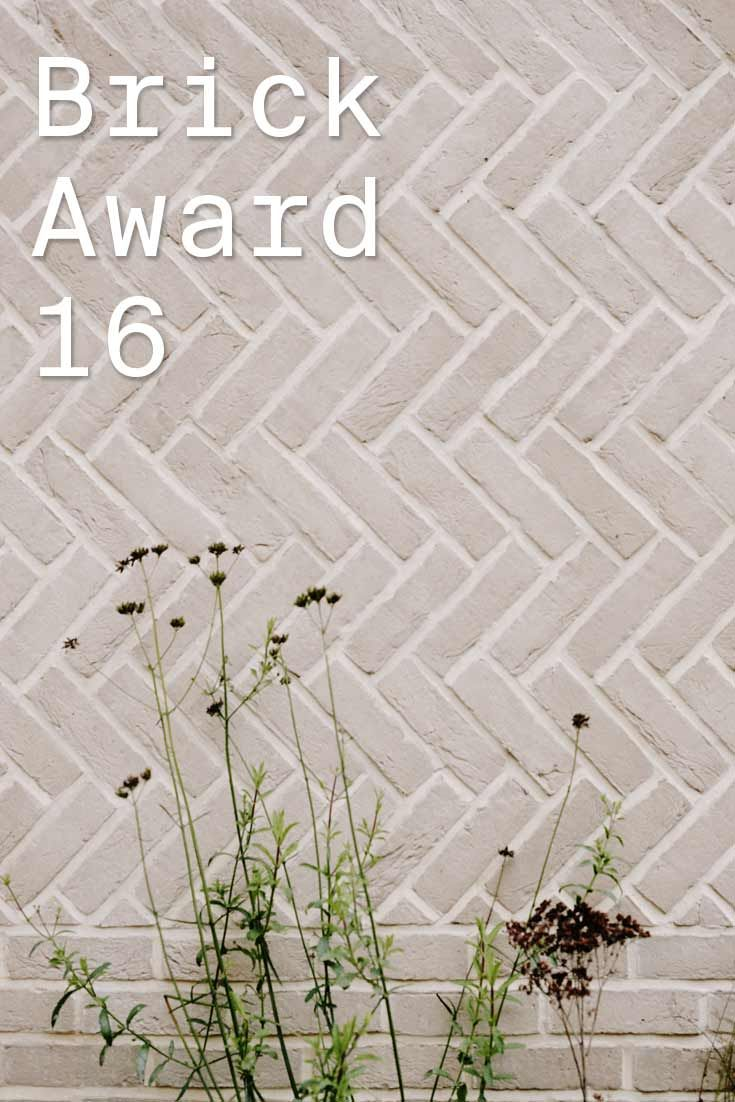 #WienerbergerBrickAward 2016 nominee 17: Herringbone House, UK by CHAN+EAYRS, UK. The light shade of herringbone brickwork articulates the houses' two volumes and frames the picture windows setting the house apart from the other buildings on the street.  Photographer: Mike Tsang Photographs; Thomas Giddings