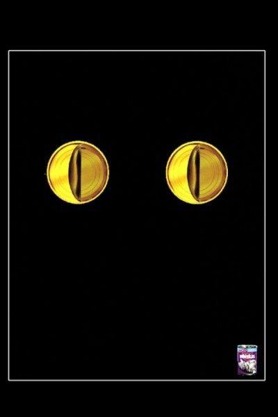 Самая креативная на наш взгляд реклама  7. Креативная реклама на примере кошачьего корма Wiskas. «Глаза или консервы?»