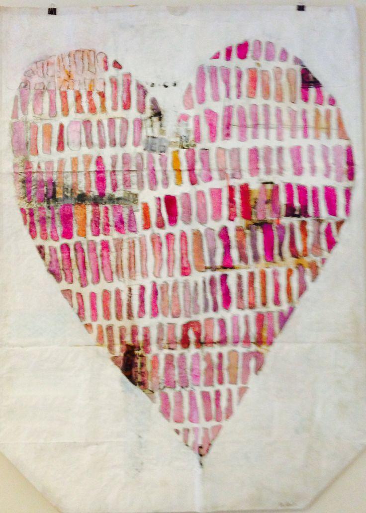 Braveheart # 2. Birgit Ravn Søndergaard. Acrylics and mixed media on a garbage sack.