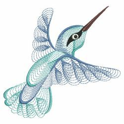 Rippled Hummingbirds 02(Sm) machine embroidery designs