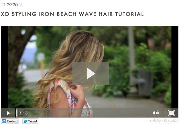 A Fashion Love Affair XO Styling Iron Beach Wave Tutorial - www.afashionloveaffair.com
