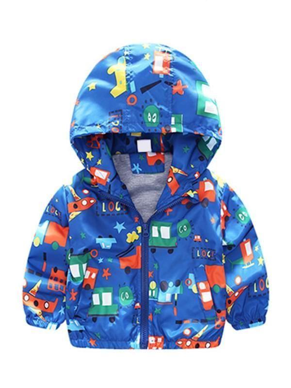 TTOOHHH Baby Grils Boys Sleeveless Car Print Hooded Zipper Vest Warm Cotton Down Jacket